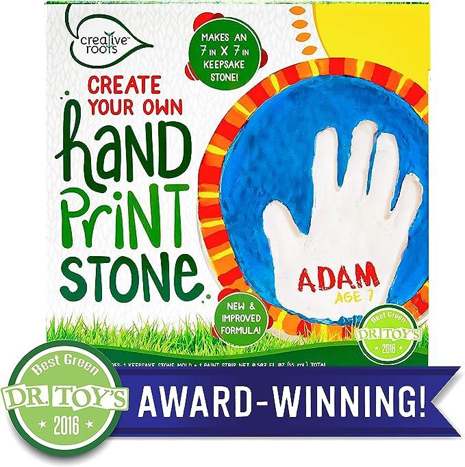 Amazon.com: Creative raíces, crear tu propio Handprint Stone ...