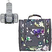 PAVILIA Hanging Travel Toiletry Bag for Women Men | Bathroom Toiletry Organizer Kit for Cosmetics Makeup | Dopp Kit…