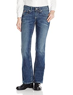 a6c56b8e495b ARIAT Women s Flame Resistant Mid Rise Boot Cut Jean at Amazon ...