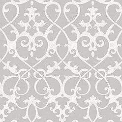 NuWallpaper NU1699 Ironwork Grey Peel & Stick Wallpaper