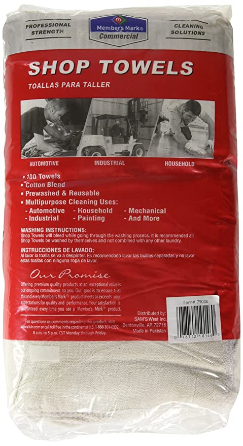 Amazon.com: Member's Mark Commercial Shop Towels - Red or White: Home & Kitchen