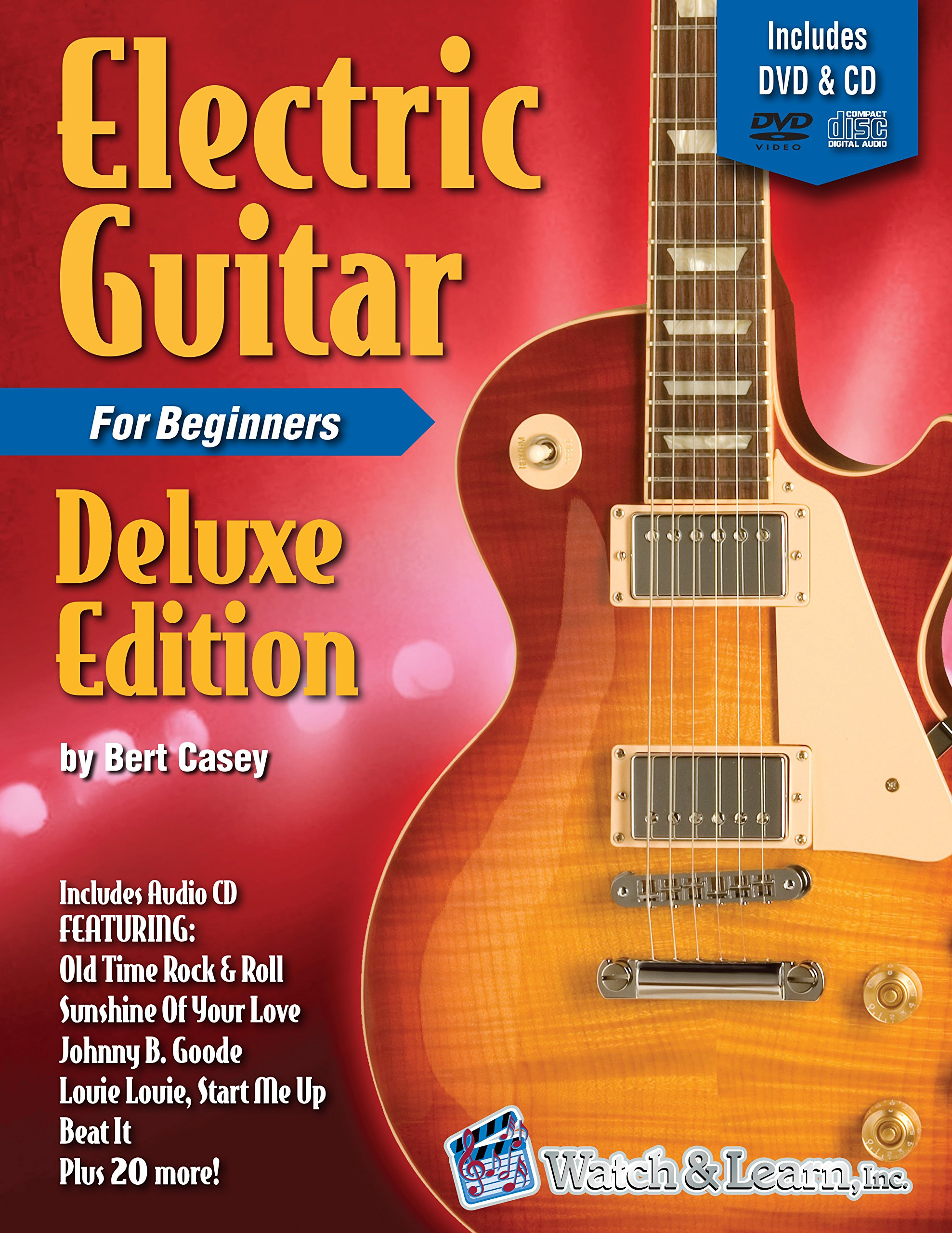 Electric Guitar Primer Book for Beginners Deluxe Edition with DVD & CD