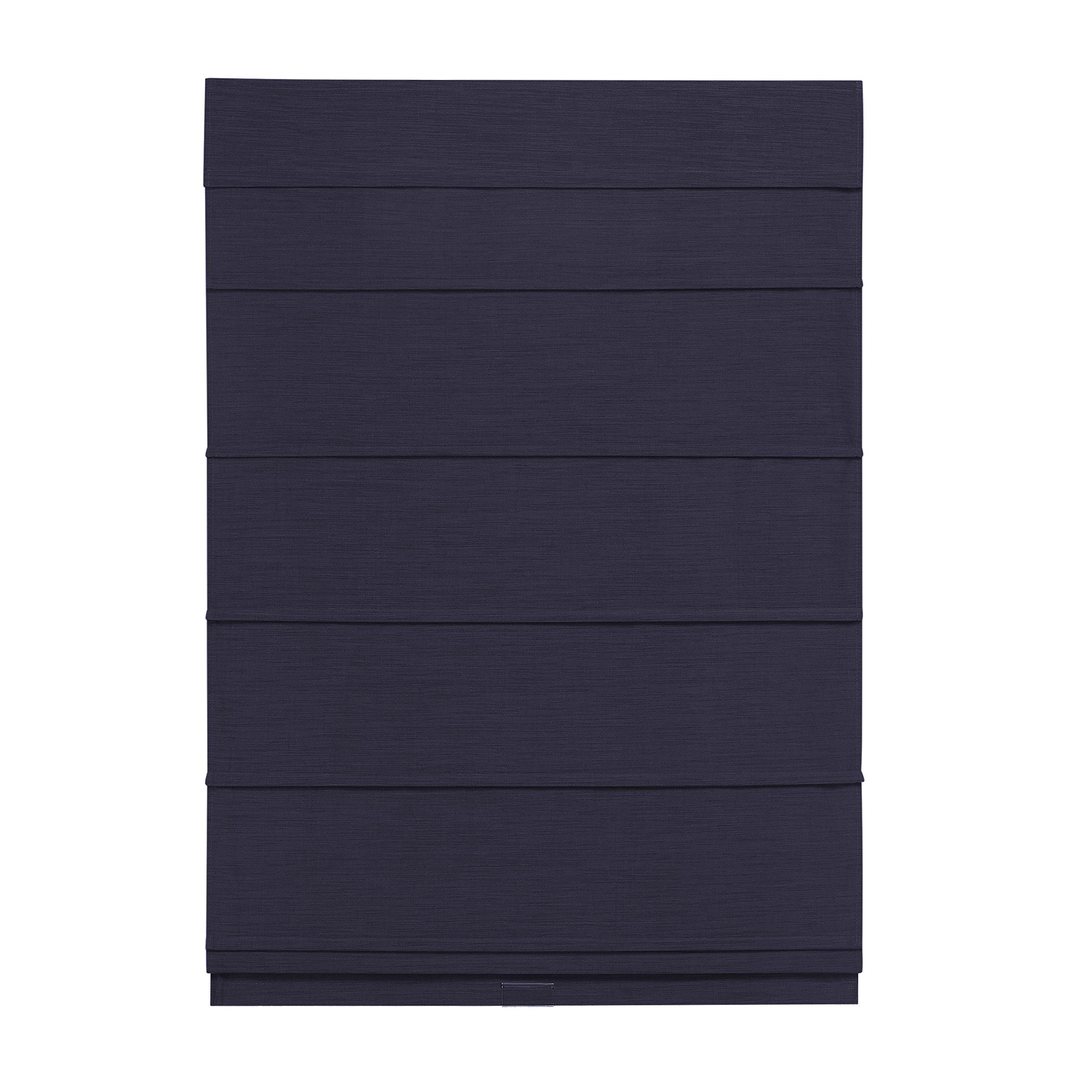 Cordless Room Darkening Fabric Roman Shade (Navy, 31x64) by The Shade & Shutter Factory