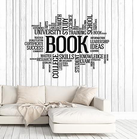 Amazoncom Vinyl Wall Decal Books Words Bookworm Library Book - Vinyl wall decals books