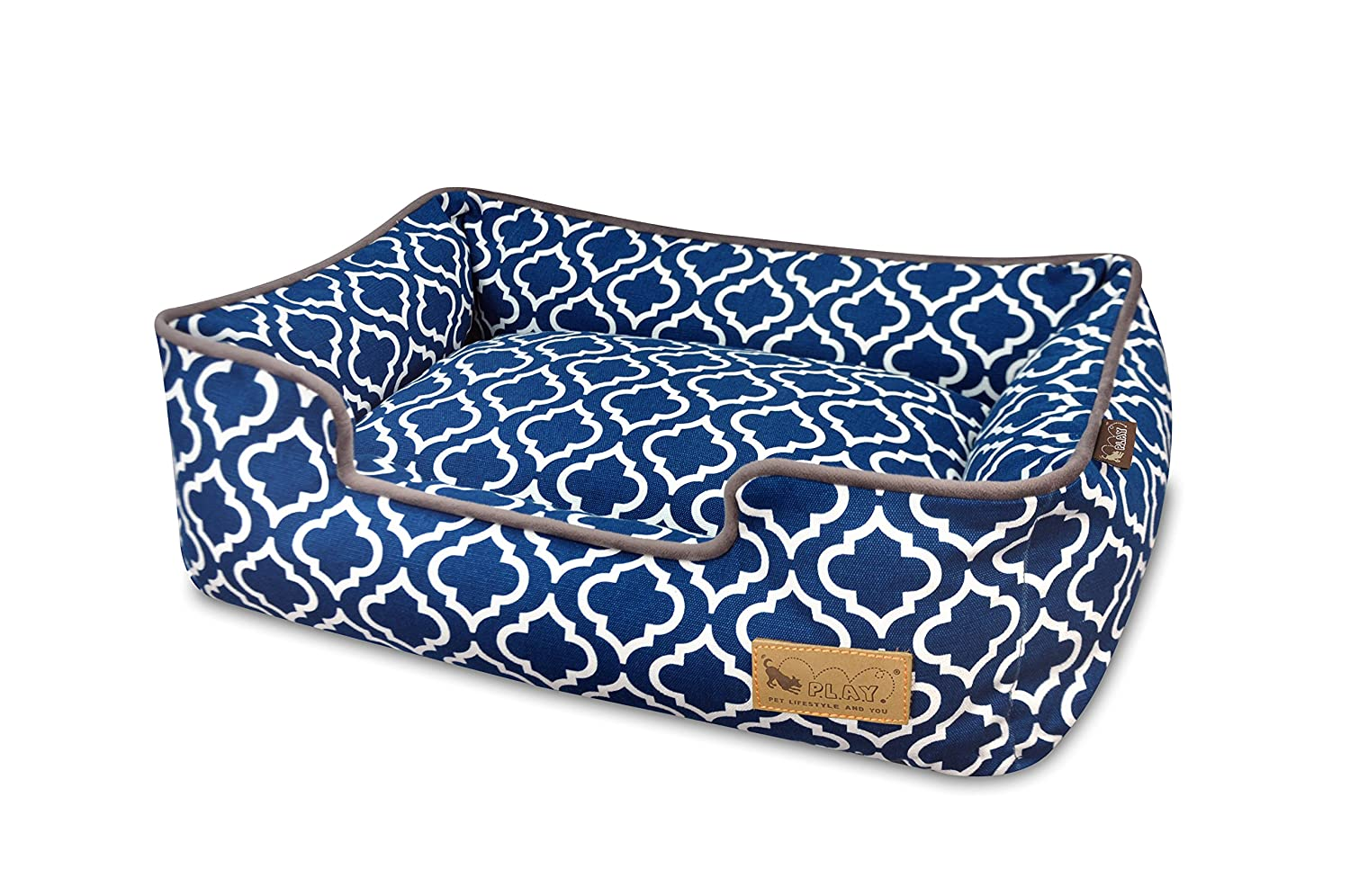 Brown Small Brown Small P.L.A.Y. (Pet Lifestyle And You) Mgoldccan Lounge Bed, Small, Navy