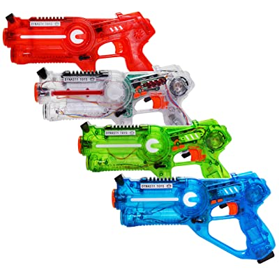 Dynasty Toys Laser Tag Set for Kids Multiplayer 4 Pack: Toys & Games