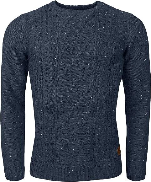 Mens Threadbare Crew Neck Jumper Textured Raglan Sweater Top Pullover Soft BRUCE