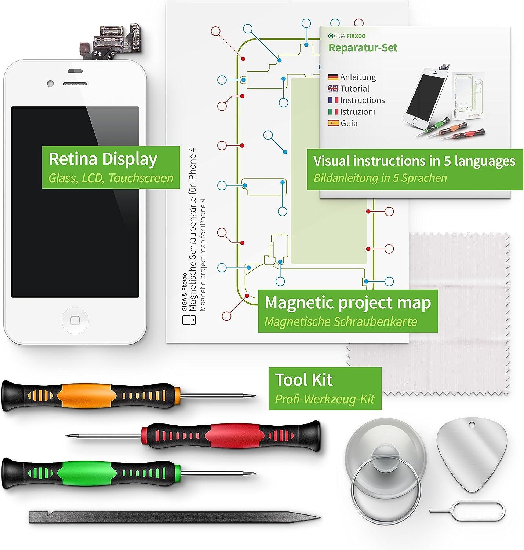 Giga Fixxoo Display Set Für Iphone 4 Weiss Elektronik