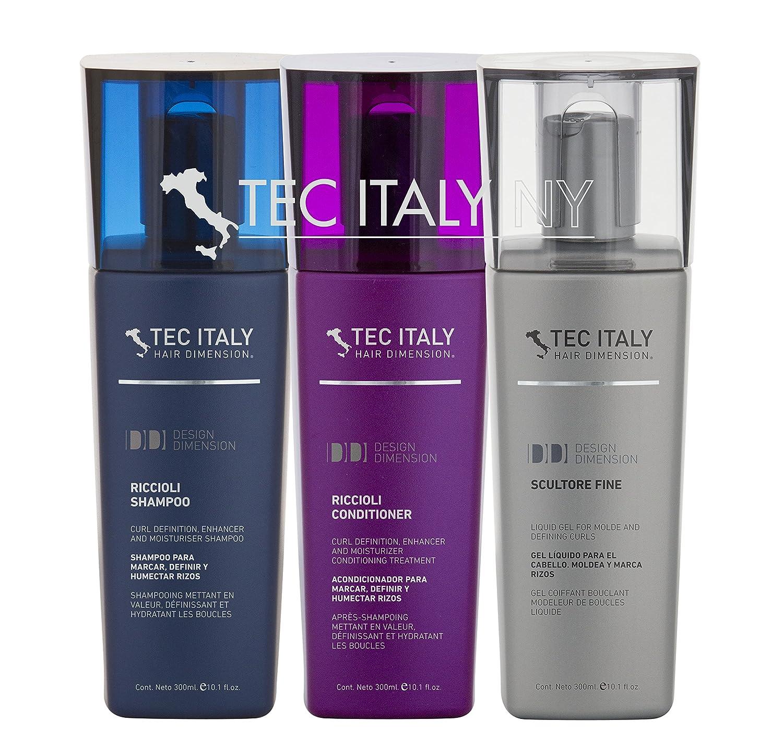 Amazon.com : Tec Italy Curls Package: Scultore Fine 10.1 Oz + Riccioli Conditioner 10.1 Oz + Riccioli Shampoo 10.1 Oz. : Beauty