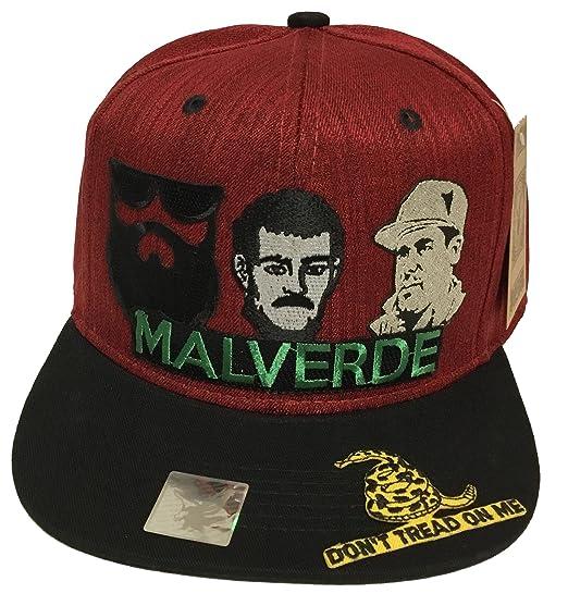 17724bb5bdfb3 El Señor de la Barba malverde el Chapo Don t tred on me Hat Maroon ...