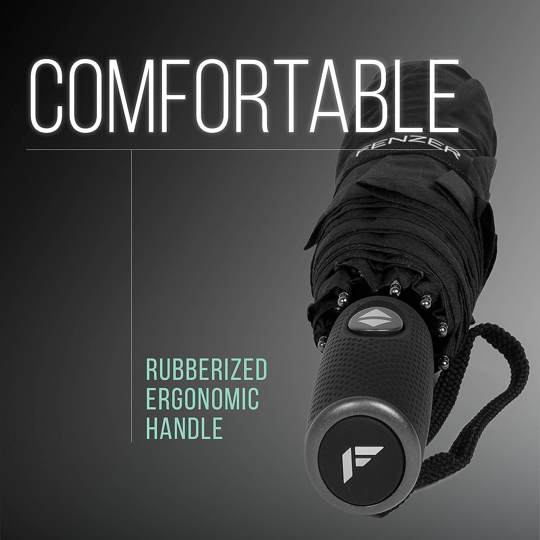 Auto Open Men TEFLON Coated Travel Umbrella Travel Stylish Lightweight Design for Women Close