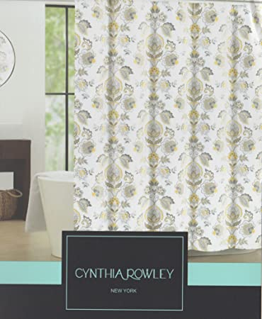 Amazon.com: Cynthia Rowley Galina Fabric Shower Curtain 72-Inch by ...