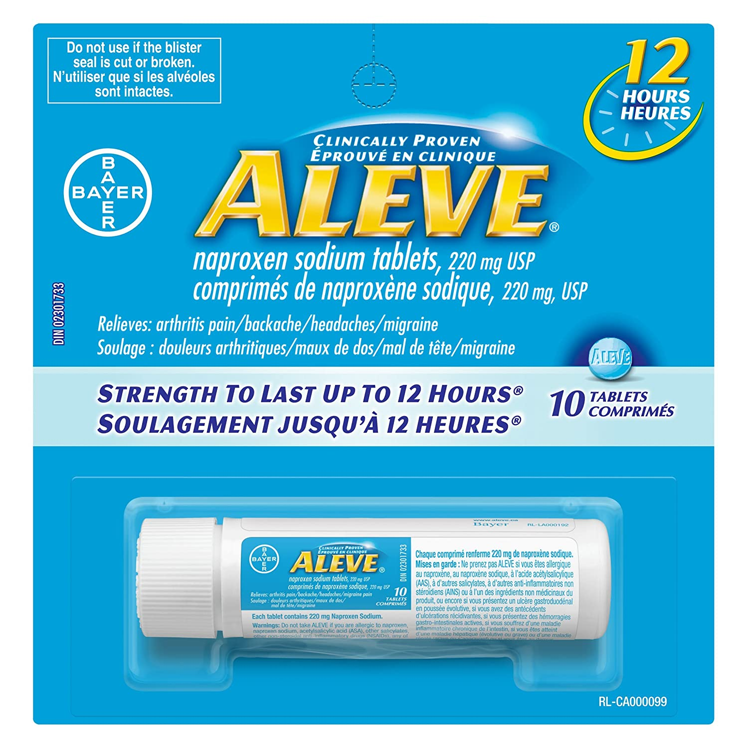 Bayer Aleve Naproxen Sodium Tablet 220 Mg Amazon Health