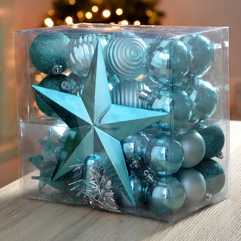 Set di decorazioni natalizie punta per albero di Natale Image 2