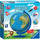 Ravensburger Children's World Globe 3D Jigsaw Puzzle for Kids and Adults, 180 piece