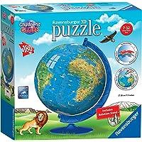 Ravensburger Children's Globe 3D Puzzleball 180pc,3D Puzzles