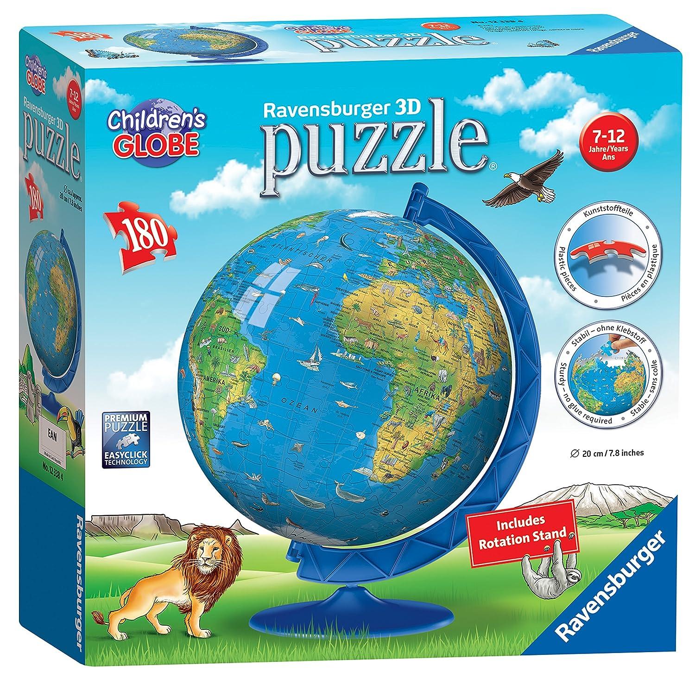 Amazon Com Ravensburger Children S World Globe 180 Piece 3d Jigsaw