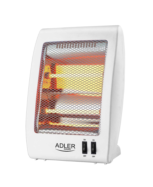 Adler AS7709 Estufa de Cuarzo radiador halogeno, plastico, Blanco, 59.5 x 37 x 28.5 cm: Amazon.es: Hogar