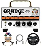 "Orange Amps Micro Terror 20W Guitar Amplifier Head Bundle with Blucoil 10' Straight Instrument Cable (1/4""), 5-FT Audio…"