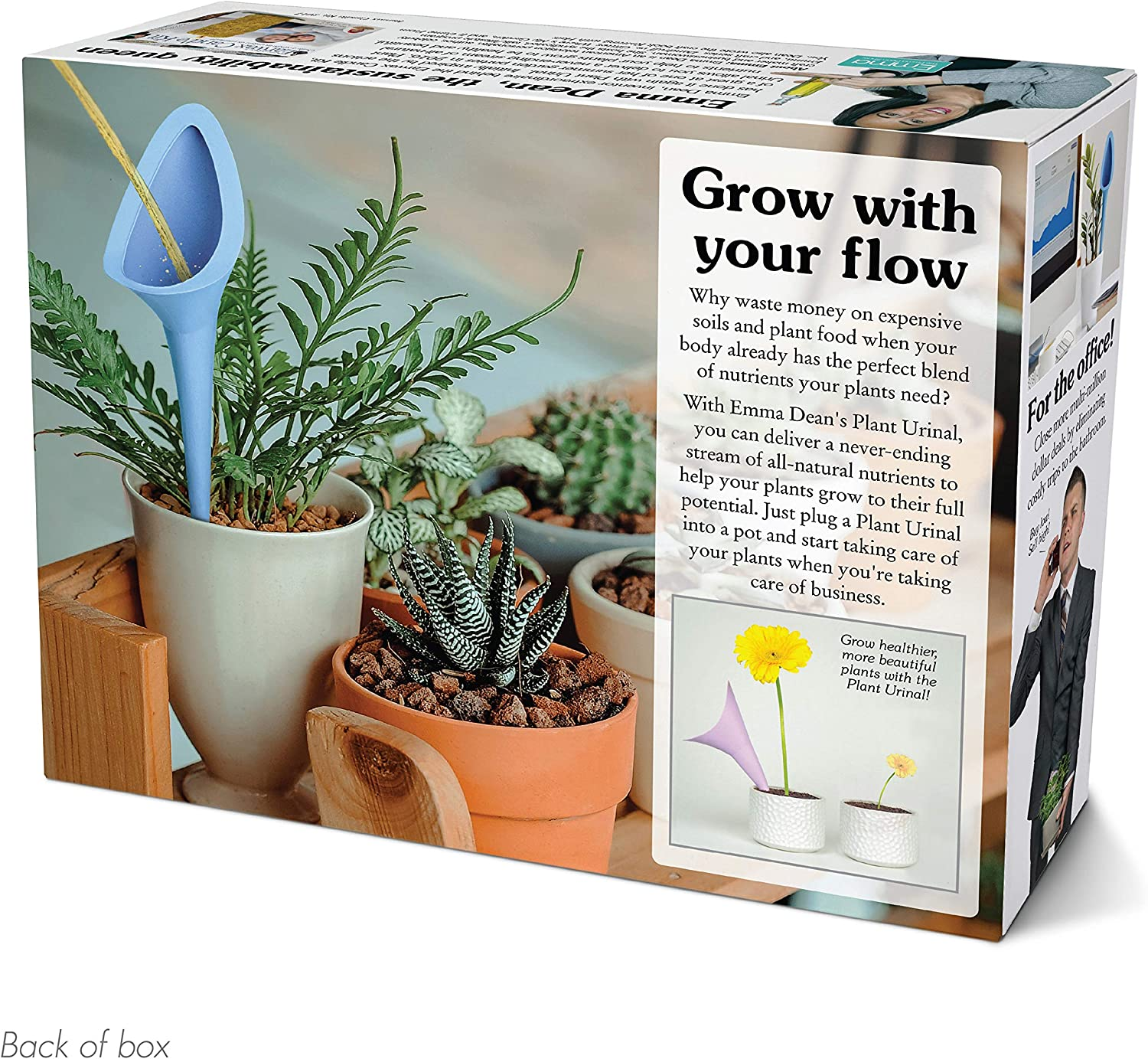 """by Prank-O Wrap Your Real Gift in a Prank Funny Gag Joke Gift Box Prank Pack /""""Plant Urinal/"""" The Original Prank Gift Box Awesome Novelty Gift Box for Any Adult or Kid!"""