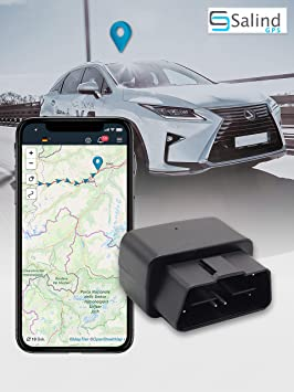 SALIND - Rastreador GPS para Coche (Enchufe OBD2, protección ...