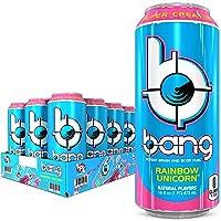 Bang Rainbow Unicorn Energy Drink, 0 Calories, Sugar Free with Super Creatine, 16oz...