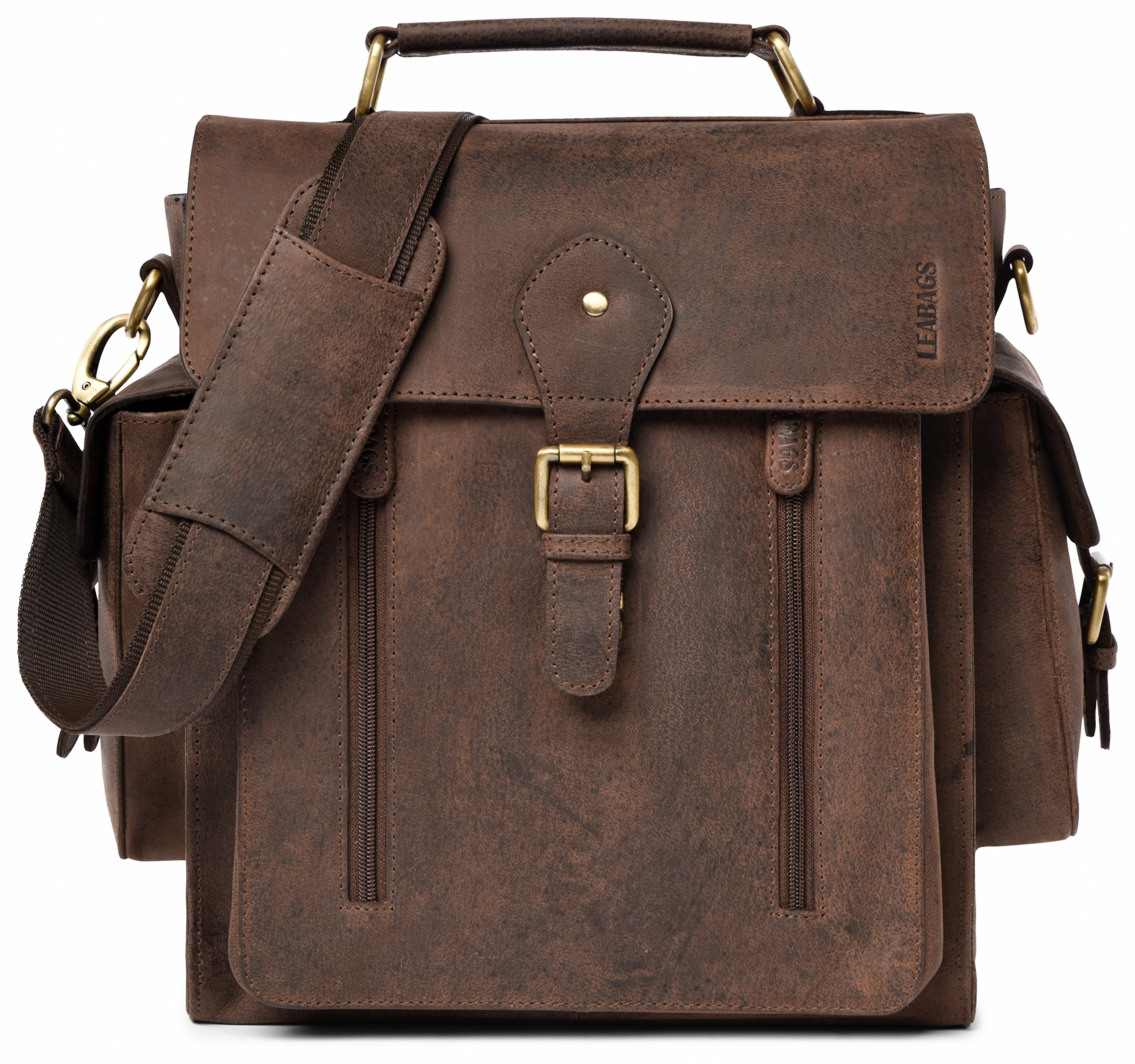 LEABAGS Lincoln genuine buffalo leather camera bag in vintage style - Nutmeg