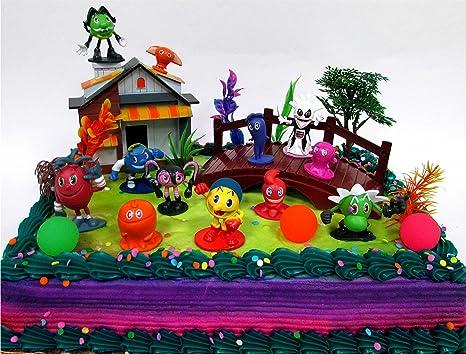 Amazon PAC MAN 22 Piece Birthday CAKE Topper Set Featuring
