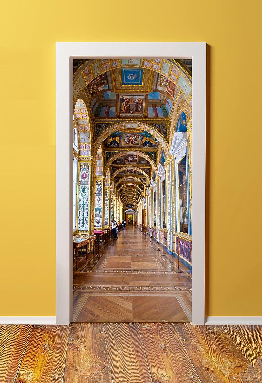 windowpix 36 x 80 3d壁画ドア(ステッカー) – Peel & Stick – Madeからtear-proof、洗濯可能、耐久性材質Versailles城、廊下、内部 B011AAFKE4