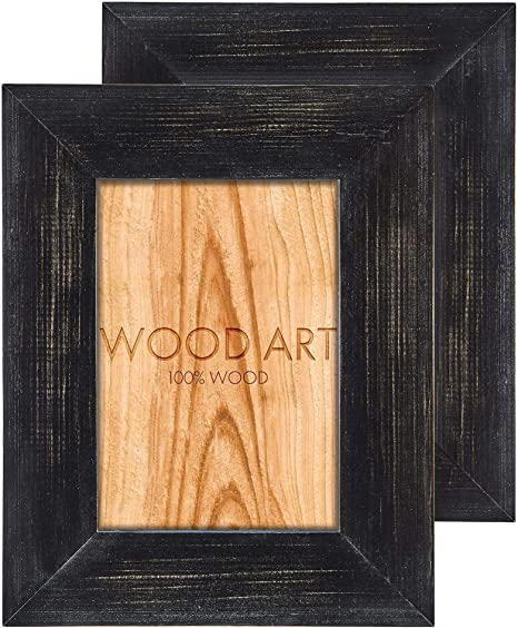 ANTIQUE DARK RUSTIC DISTRESSED WOOD WOODEN FINISH PICTURE PHOTO FRAME ALL SIZES