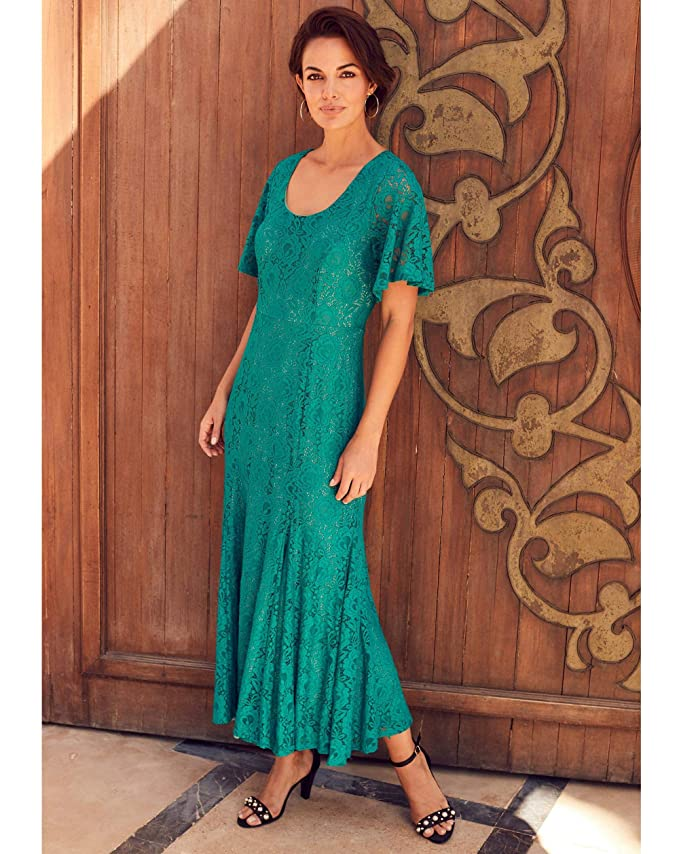 Find Downton Abbey Style Dresses in the UK JD WILLIAMS Womens Joanna Hope Lace Maxi Dress £19.80 AT vintagedancer.com