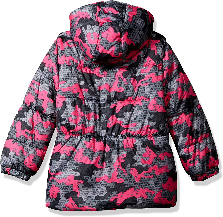 Pink Platinum Girls Digi Camo Print Puffer