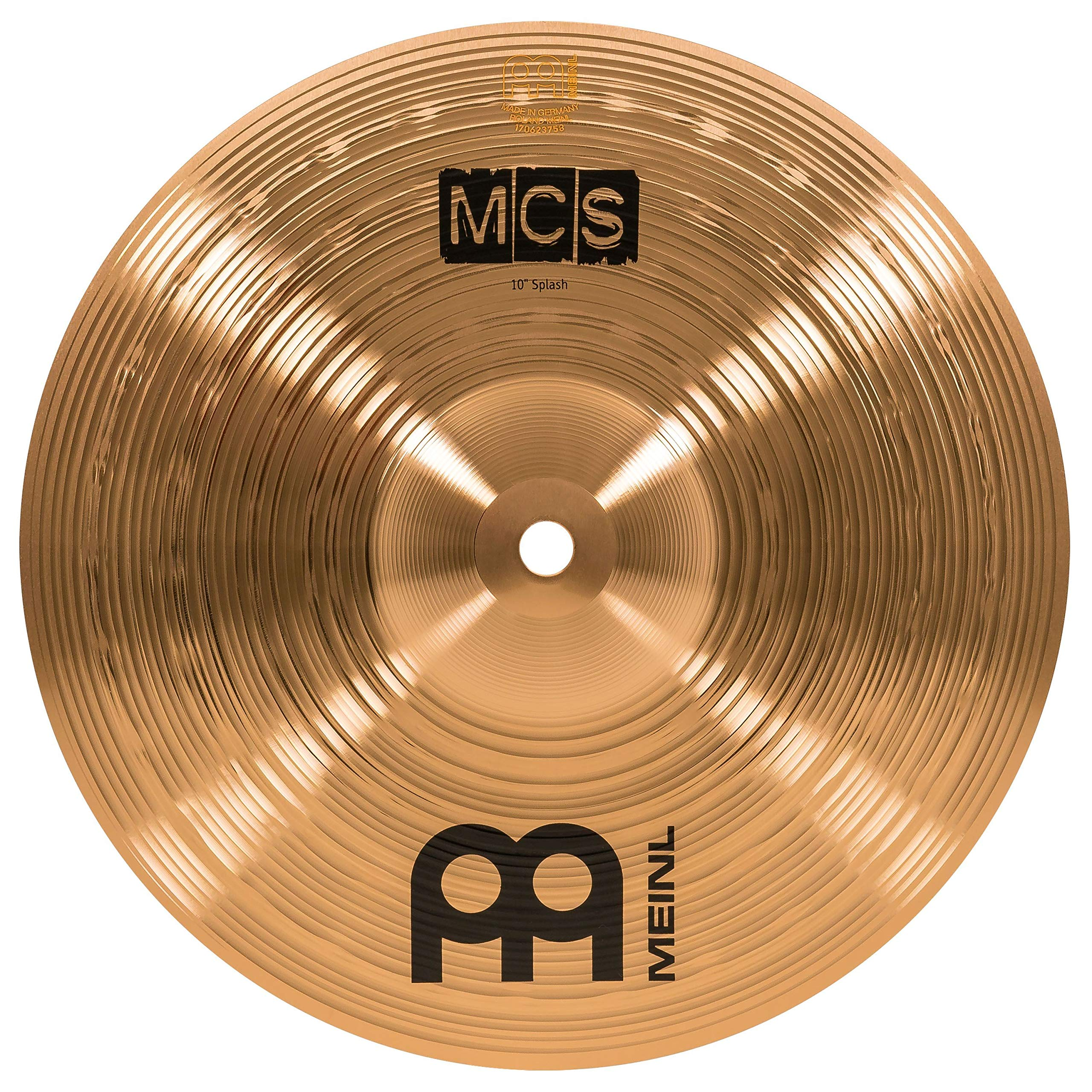Meinl 10'' Splash Cymbal - MCS Traditional Finish Bronze for Drum Set Use, Made In Germany, 2-YEAR WARRANTY (MCS10S)