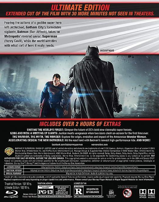 Amazoncom Batman V Superman Dawn Of Justice Ultimate Edition