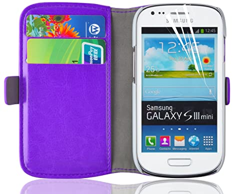 3b2723b2027 Galaxy S3 MINI Case Cover, JAMMYLIZARD Funda Con Tapa De Piel Luxury Wallet  Tipo Cartera