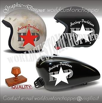 Adhesivos de imitación de estrella de Harley Davidson HD para Casco Depósito