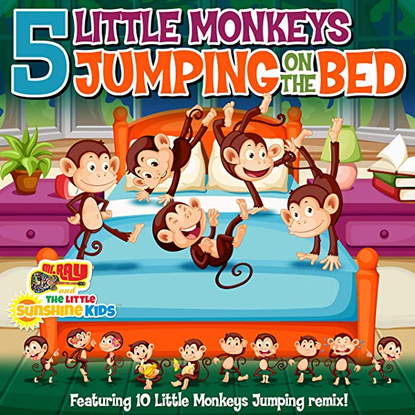 5 Little Monkeys Jumping On The Bed The Little Sunshine Kids Version By The Little Sunshine Kids On Amazon Music Amazon Com