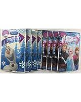 BashBox Disney Frozen Play Pack Grab & Go Children's Coloring & Activity Party Favor Bundle (8 packs)