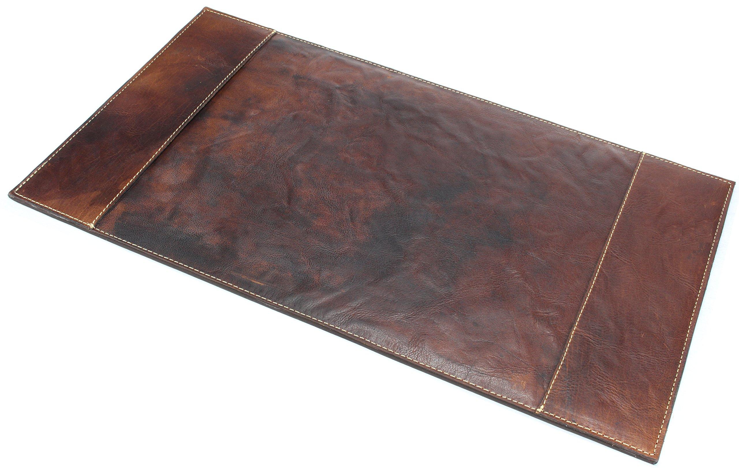 ALPENLEDER Desk Pad ''PIEMONT'' | Made Of Buffalo Leather | Men Women Office Protector Mat Brown (Brandy) by ALPENLEDER