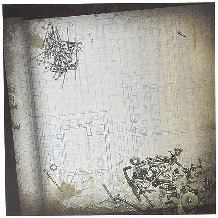 Blueprint paper 12x12 25 per pack amazon kitchen home blueprint paper 12quotx12quot malvernweather Images