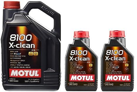 MOTUL 8100 X-Clean Acea C3 5 W-40 Aceite de motor de coche