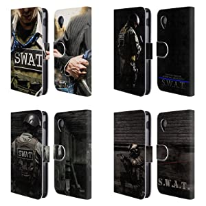 Official Jason Bullard Swat Leather Book Wallet Case Cover For LG Nexus 5