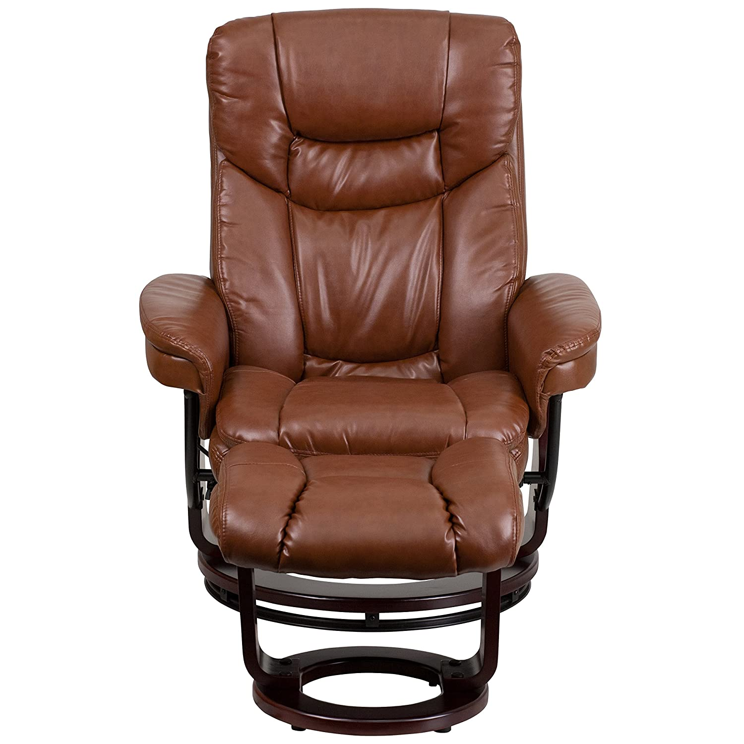 Amazon Flash Furniture Contemporary Beige Leather Recliner