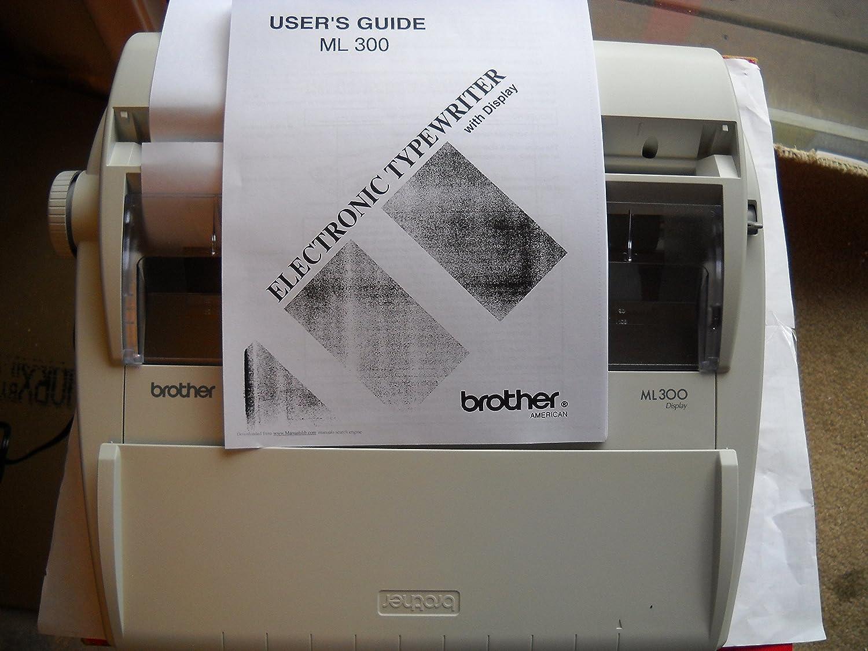 Brother ml-300 diccionario electrónico máquina de escribir - Daisy rueda - 12 cps - 9 & # 34; Impresión width16 Character (S) LCD - ml-300: Amazon.es: ...