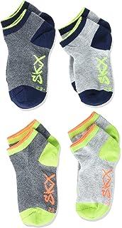 Skechers Jungen 2er Pack Sneaker Socken aus weichem Baumwollmix Kinder F/ü/ßlinge