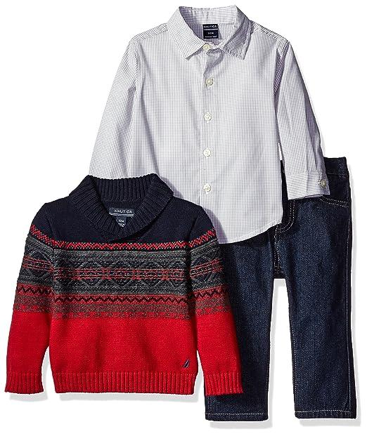 Amazon.com: Nautica - Conjunto de suéter de cuello de chal ...