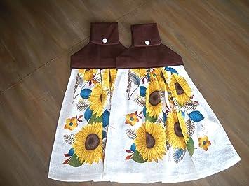 Girasol celebración para colgar toallas de plato de (Juego de 2): Amazon.es: Hogar