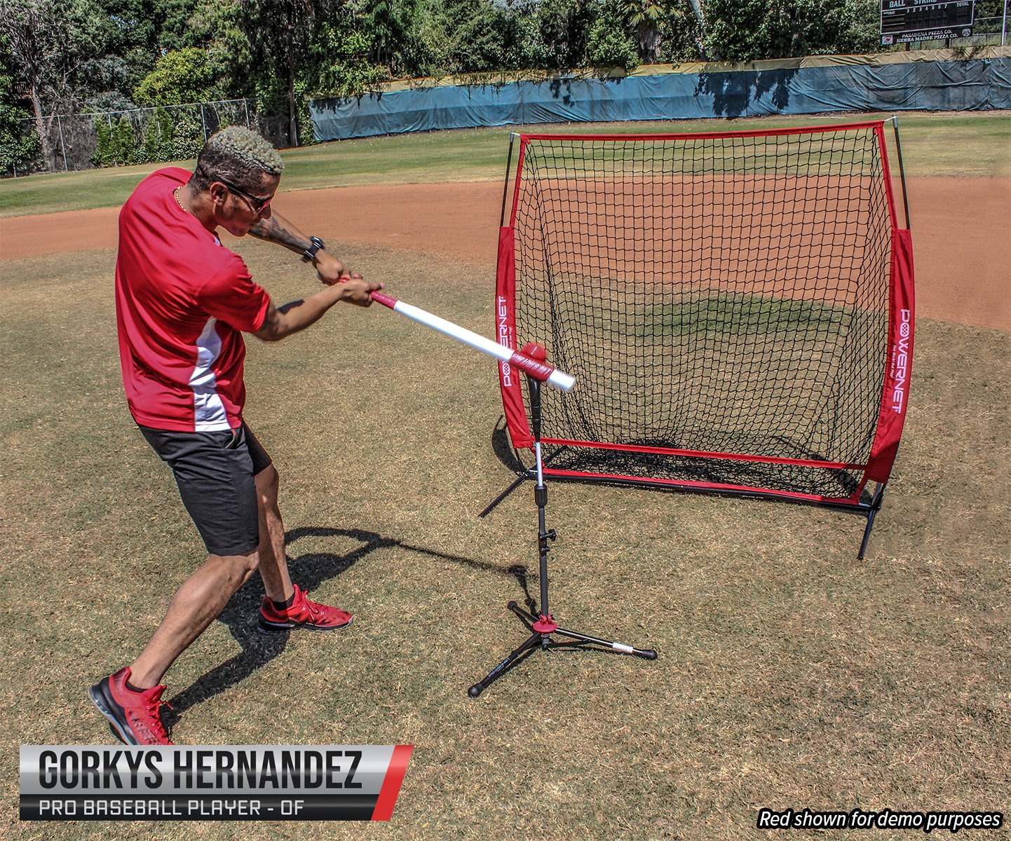 d8e256eeb PowerNet 5x5 Practice Net + Deluxe Tee + Strike Zone + Weighted ...