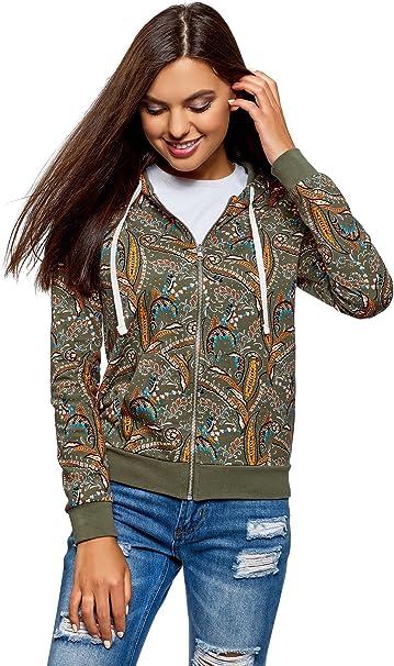 oodji Ultra Womens Printed Sweatshirt