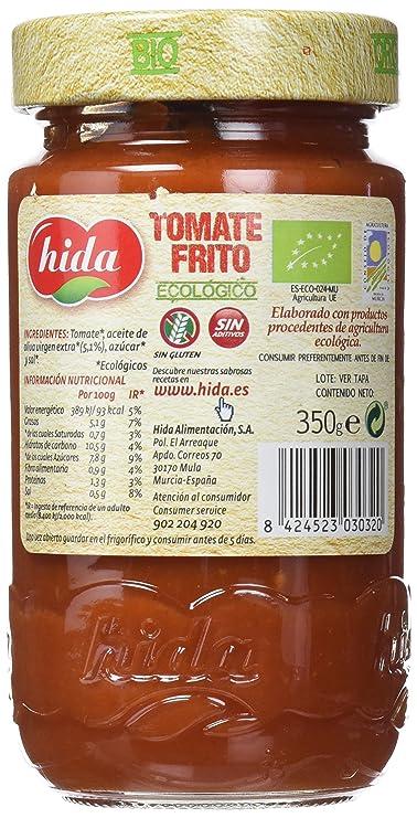 Hida Tomate Frito Ecológico 350g x 6 Botes Cristal - Total: 2100 g ...